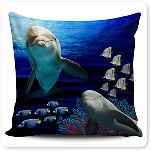 Sea Creatures Collection Dolphins - Pillow