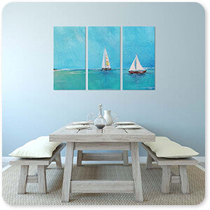 Summer Breeze Two Sailboats - Multi-piece Canvas Art - 3 Designs - EXPRESS DELIVERY!
