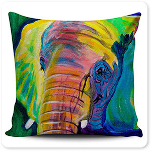 Wild Animals Collection Pachyderm Elephant - Pillow Cover