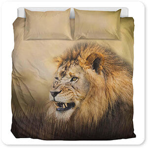 Wild Animals Collection Snarling - Duvet Bedding Set
