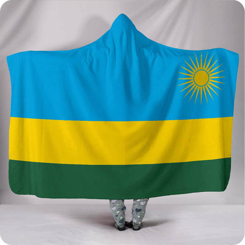 Rwanda National Flag - Hooded Blanket