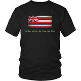 Hawaii State Flag with Motto - Black T-Shirt