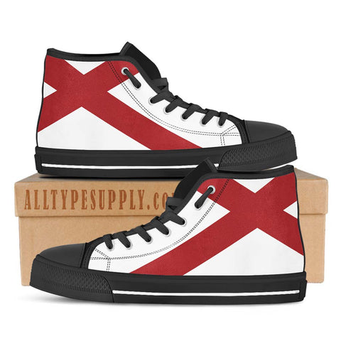Alabama State Flag - High & Low Top Canvas Shoes