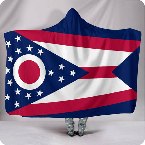 Ohio State Flag - Hooded Blanket