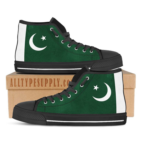 Pakistan National Flag - High & Low Top Canvas Shoes