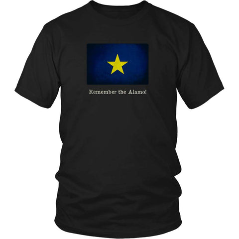 Republic of Texas Flag with Motto - Black T-Shirt