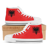Albania National Flag - High & Low Top Canvas Shoes