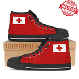 Tonga National Flag - High & Low Top Canvas Shoes - EXPRESS DELIVERY!