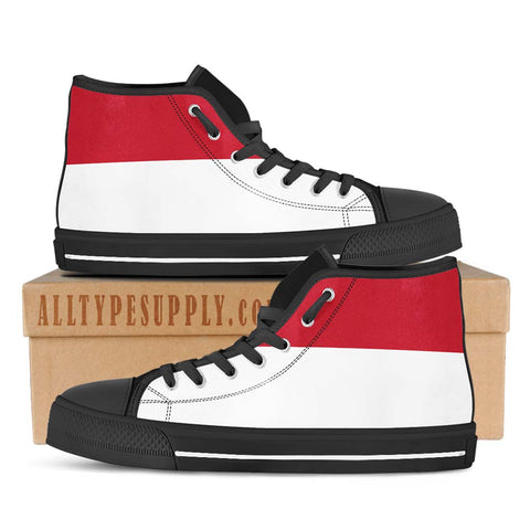 Monaco National Flag - High & Low Top Canvas Shoes