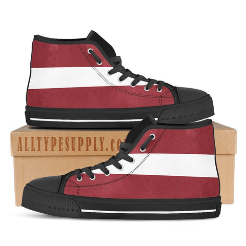 Latvia National Flag - High & Low Top Canvas Shoes