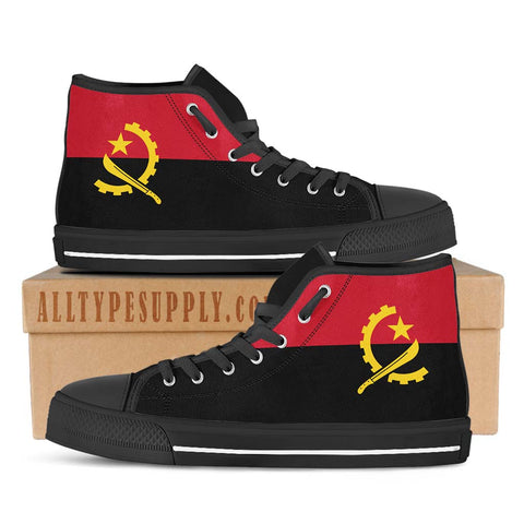 Angola National Flag - High & Low Top Canvas Shoes