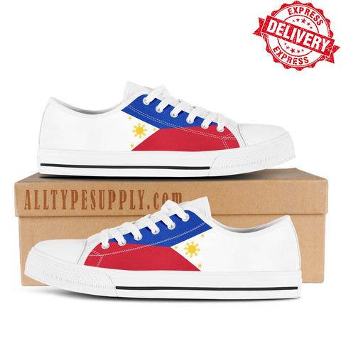 e1156c9bd5 Philippines National Flag - High   Low Top Canvas Shoes - EXPRESS DELIVERY!