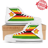 Zimbabwe National Flag - High & Low Top Canvas Shoes - EXPRESS DELIVERY!