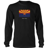 Arizona State Flag with Motto - Black T-Shirt