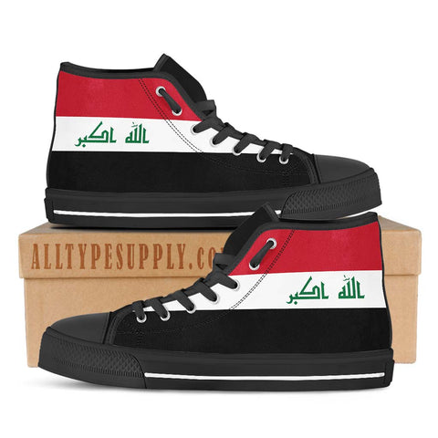 Iraq National Flag - High & Low Top Canvas Shoes