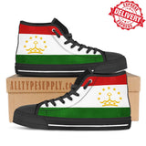 Tajikistan National Flag - High & Low Top Canvas Shoes - EXPRESS DELIVERY!