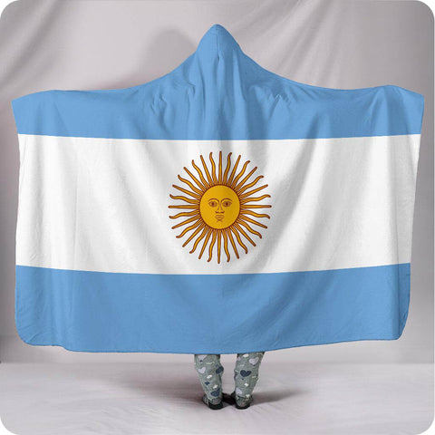 Argentina National Flag - Hooded Blanket
