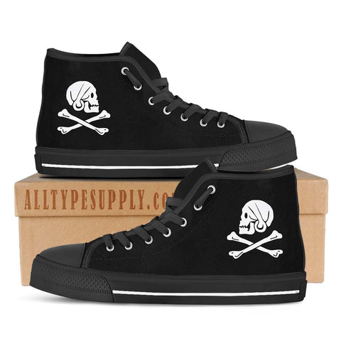Henry Every Pirate Flag - High & Low Top Canvas Shoes