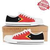 East Timor National Flag - High & Low Top Canvas Shoes - EXPRESS DELIVERY!