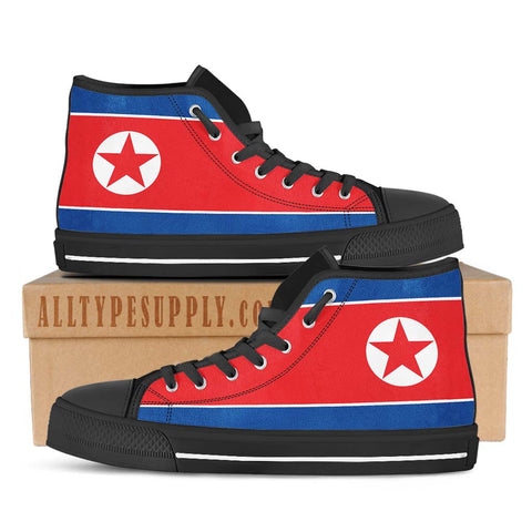 North Korea National Flag - High & Low Top Canvas Shoes