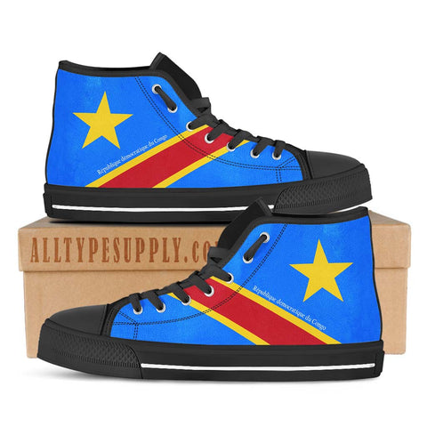 Democratic Republic of the Congo National Flag - High & Low Top Canvas Shoes