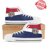 Missouri State Flag - High & Low Top Canvas Shoes - EXPRESS DELIVERY!
