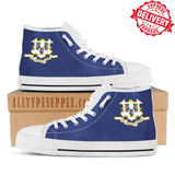 Connecticut State Flag - High & Low Top Canvas Shoes - EXPRESS DELIVERY!