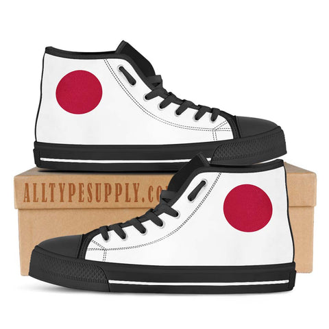 Japan National Flag - High & Low Top Canvas Shoes