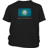 South Dakota State Flag with Motto - Black T-Shirt