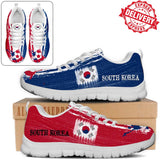 South Korea National Flag [Soccer Paint Brush] - Kid's Running Sneakers - EXPRESS DELIVERY!