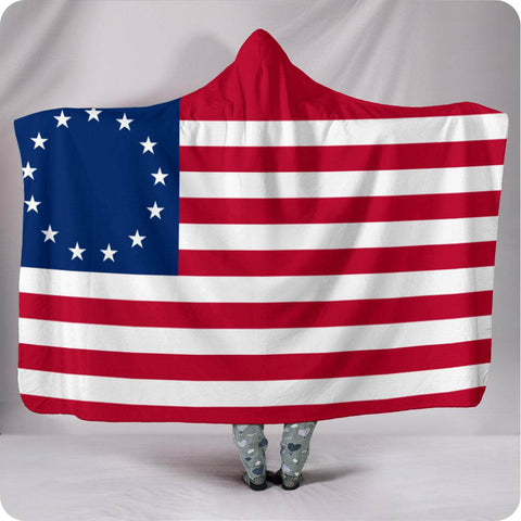 Betsy Ross Flag - Hooded Blanket