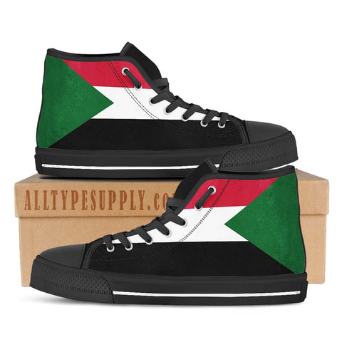 Sudan National Flag - High & Low Top Canvas Shoes
