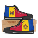Moldova National Flag - High & Low Top Canvas Shoes