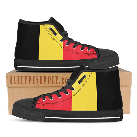 Belgium National Flag - High & Low Top Canvas Shoes