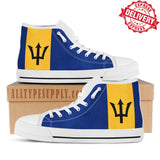 Barbados National Flag - High & Low Top Canvas Shoes - EXPRESS DELIVERY!