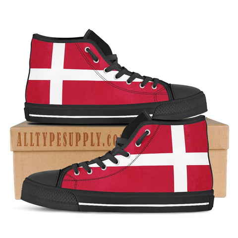 Denmark National Flag - High & Low Top Canvas Shoes