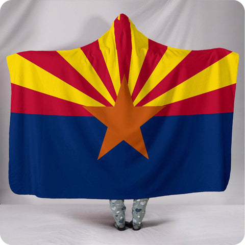 Arizona State Flag - Hooded Blanket