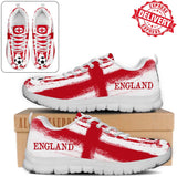 England National Flag [Soccer Paint Brush] - Running Sneakers - EXPRESS DELIVERY!