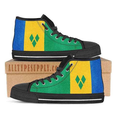 Saint Vincent and the Grenadines National Flag - High & Low Top Canvas Shoes