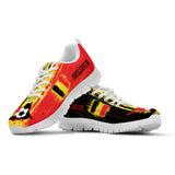 Belgium National Flag [Soccer Paint Brush] - Men's Running Sneakers