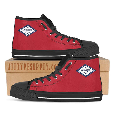 Arkansas State Flag - High & Low Top Canvas Shoes