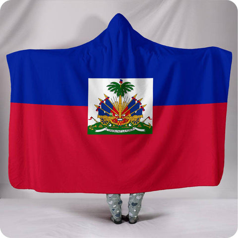 Haiti National Flag - Hooded Blanket