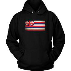 Hawaii State Flag - Black Hoodie