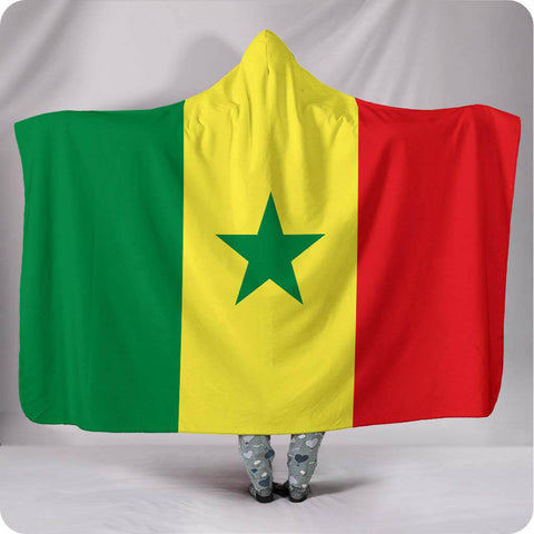Senegal National Flag - Hooded Blanket