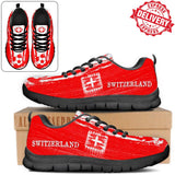 Switzerland National Flag [Soccer Paint Brush] - Kid's Running Sneakers - EXPRESS DELIVERY!