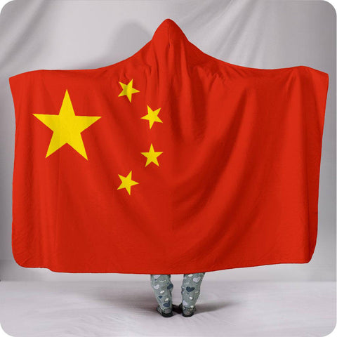 China National Flag - Hooded Blanket