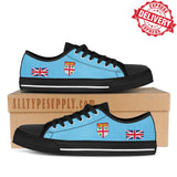 Fiji National Flag - High & Low Top Canvas Shoes - EXPRESS DELIVERY!