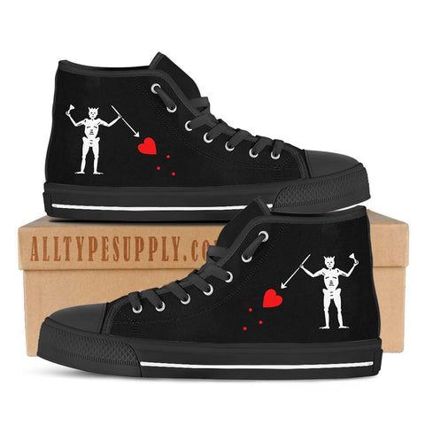 Blackbeard Pirate Flag - High & Low Top Canvas Shoes