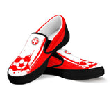 Switzerland National Flag [Soccer Paint Brush] - Men's Canvas Slip-On Shoes