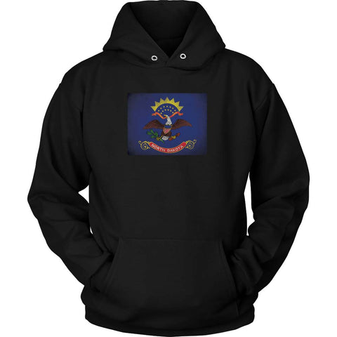 North Dakota State Flag - Black Hoodie